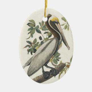 Audubon's Brown Pelican Ceramic Ornament