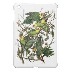 Case Savvy iPad Mini Glossy Finish Case with Audubon's Carolina Parakeet design