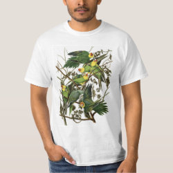 Audubon's Carolina Parakeet Men's Crew Value T-Shirt