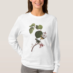 Women's Basic Long Sleeve T-Shirt with Audubon's