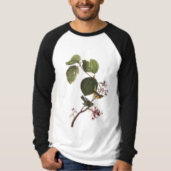 Men's Canvas Long Sleeve Raglan T-Shirt with Audubon's