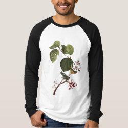 Men's Canvas Long Sleeve Raglan T-Shirt with Audubon's