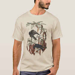 Men's Basic T-Shirt with Audubon's Fish Crow design