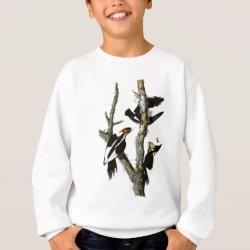 Kids' American Apparel Organic T-Shirt with Audubon's Ivory-billed Woodpecker design