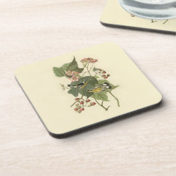 Beverage Coaster with Audubon's Magnolia Warbler design