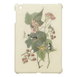 Case Savvy iPad Mini Glossy Finish Case with Audubon's Magnolia Warbler design