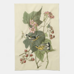 Kitchen Towel 16' x 24' with Audubon's Magnolia Warbler design