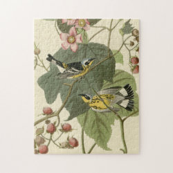 10x14 Photo Puzzle with Audubon's Magnolia Warbler design