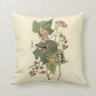 Audubon's Magnolia Warbler Throw Pillow