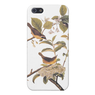 Audubon's Maryland Yellowthroat Birds with Flowers iPhone SE/5/5s Cover
