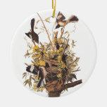 Audubon's Mocking Bird Ceramic Ornament