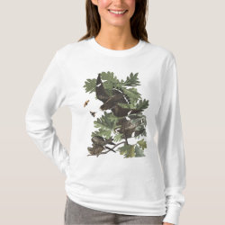 Women's Basic Long Sleeve T-Shirt with Audubon's Night Hawk design