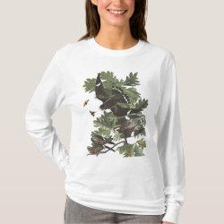 Women's Basic Long Sleeve T-Shirt with Audubon's Night Hawk design