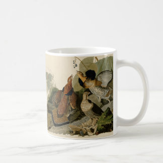 Audubon's Painting of a trio of Ruffed Grouse Mugs