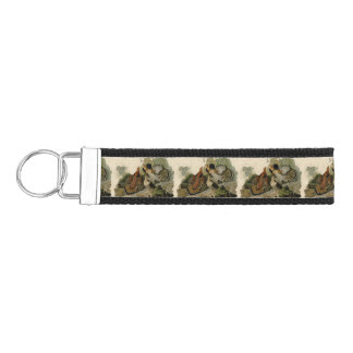Audubon's Painting of a trio of Ruffed Grouse Wrist Keychain