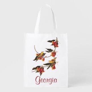Audubon's Rathbone's Warbler Birds on Crossvine Grocery Bag