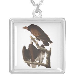 Large Necklace with Audubon's Turkey Vulture design