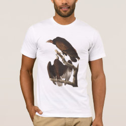 Men's Basic American Apparel T-Shirt with Audubon's Turkey Vulture design