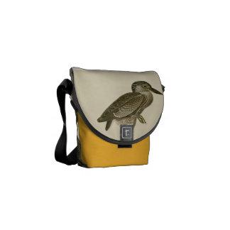 Audubon's Vintage Yellow crowned night heron paint Messenger Bag