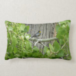Audubon's Warbler Bird Photography Lumbar Pillow