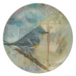 Audubon's Warbler Dinner Plates