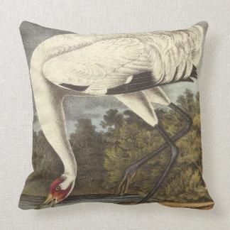 Audubon's Whooping Crane Throw Pillows