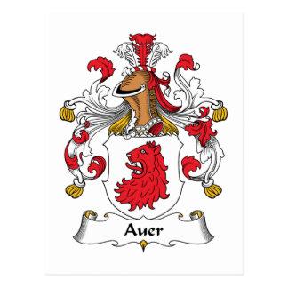 Auer Family Crest Postcard