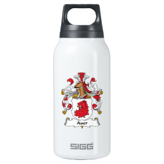 Auer Family Crest Thermos Water Bottle