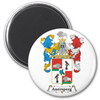Auersperg 3 Family Hungarian Coat of Arms 2 Inch Round Magnet