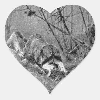 Auf Leben und Tod (Edelhirsche in der Brunft) by R Heart Sticker
