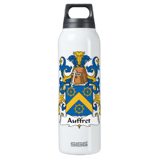 Auffret Family Crest 16 Oz Insulated SIGG Thermos Water Bottle