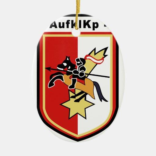 Aufklarungs-kompanie Panzerstabs-bataillon 4 Double-Sided Oval Ceramic Christmas Ornament