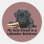 """Aufkleber """"Labrador Retriever"""" Classic Round Sticker"""