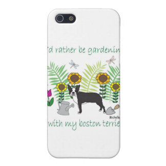 aug12015gardBostonTerrier.jpg Case For iPhone SE/5/5s