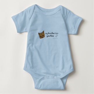 aug24 my brother is a yorkie and more dog breeds! baby bodysuit