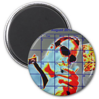aug JIMMY JAMES KiiNG 2 Inch Round Magnet