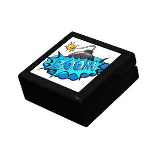 ¡Auge cómico de la bomba del estilo del arte pop! Cajas De Joyas