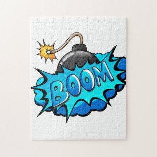 ¡Auge cómico de la bomba del estilo del arte pop! Puzzles Con Fotos