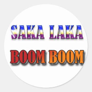Auge del auge de Saka Laka Pegatina Redonda