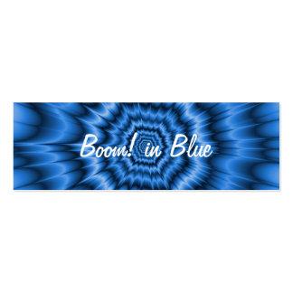 ¡Auge! en tarjeta de visita flaca azul