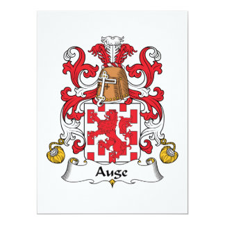 Auge Family Crest 6.5x8.75 Paper Invitation Card