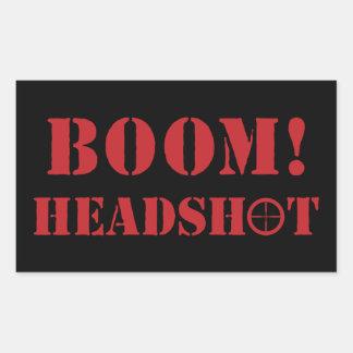 ¡Auge! Pegatinas del Headshot Pegatina Rectangular