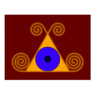 Auge Pyramide eye pyramid Postcard