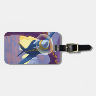 Augerin Canyon Illustration Bag Tag