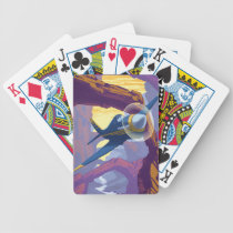Augerin Canyon Illustration Bicycle Playing Cards