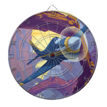 Augerin Canyon Illustration Dartboard With Darts