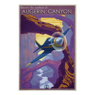 Augerin Canyon Illustration Poster