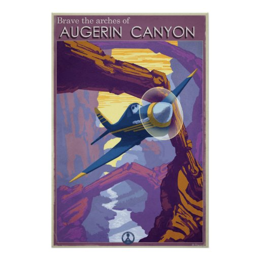 Augerin Canyon Illustration Posters