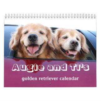 Augie and Ti's 2017 Golden Retriever Calendar