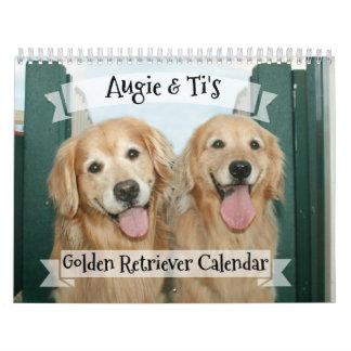 Augie and Ti's 2018 Golden Retriever Dog Calendar